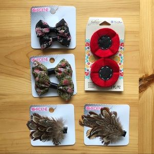 Assorted Hair Clips & Craft Jewelry Embellishments